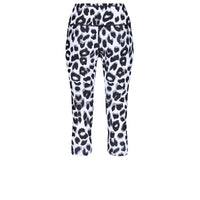 Tikiboo Snow Leopard Cropped Tights - Back Product View