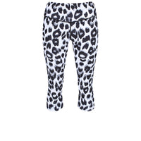 Tikiboo Snow Leopard Capri - Front Product View