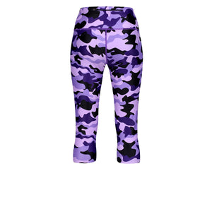 Tikiboo Blackberry Camo Cropped Tights - Back Product View