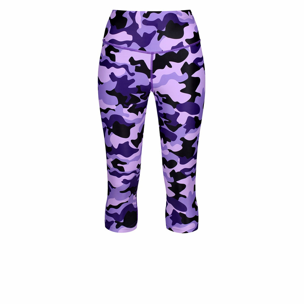 Tikiboo Blackberry Camo Capri - Front Product View