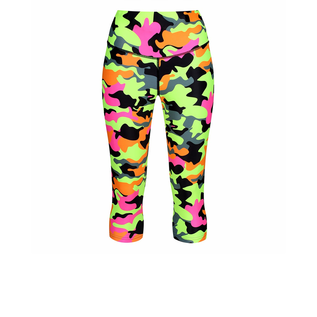 Tikiboo Fruit Salad Camo Capri - Front Product View