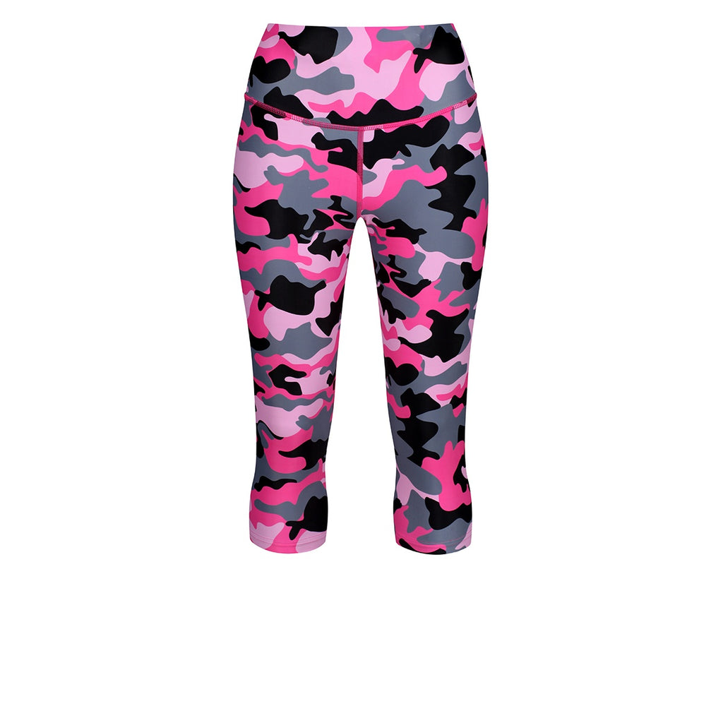 Tikiboo Strawberry Sundae Camo Capri - Front Product View