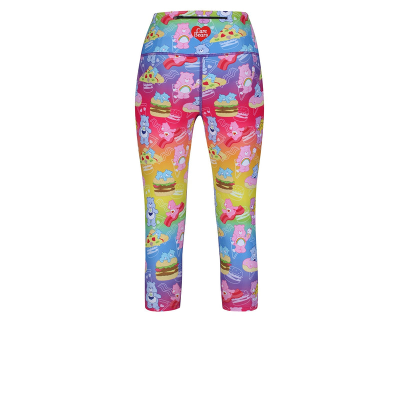 Tikiboo Care Bears Rainbow Snacks Cropped Tights - Back Product View