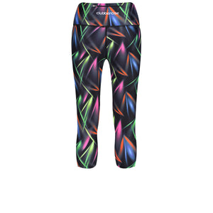Tikiboo Clubbercise Laser Light Cropped Tights - Back Product View
