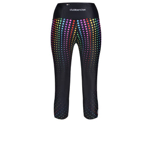 Tikiboo Clubbercise Rainbow Raver Cropped Tights - Back Product View