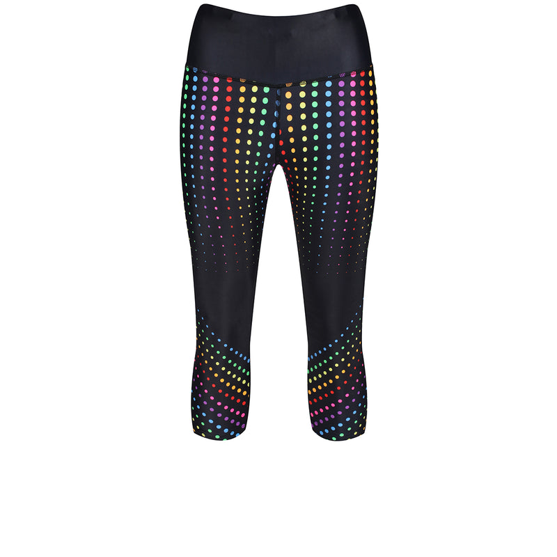 Tikiboo Clubbercise Rainbow Raver Capri - Front Product View