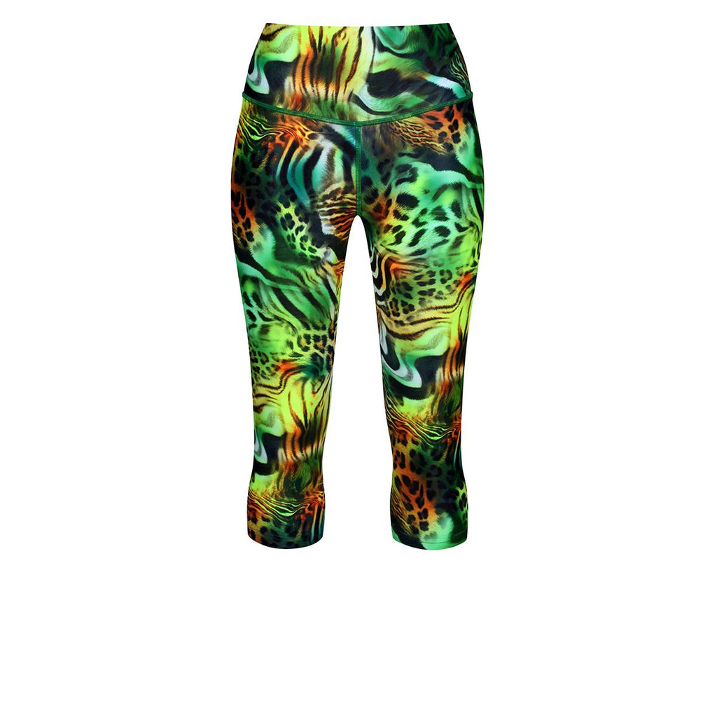 Tikiboo Jungle Patchwork Capri - Front Product View