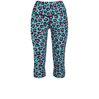 Tikiboo Minty Leopard Capri - Front Product View