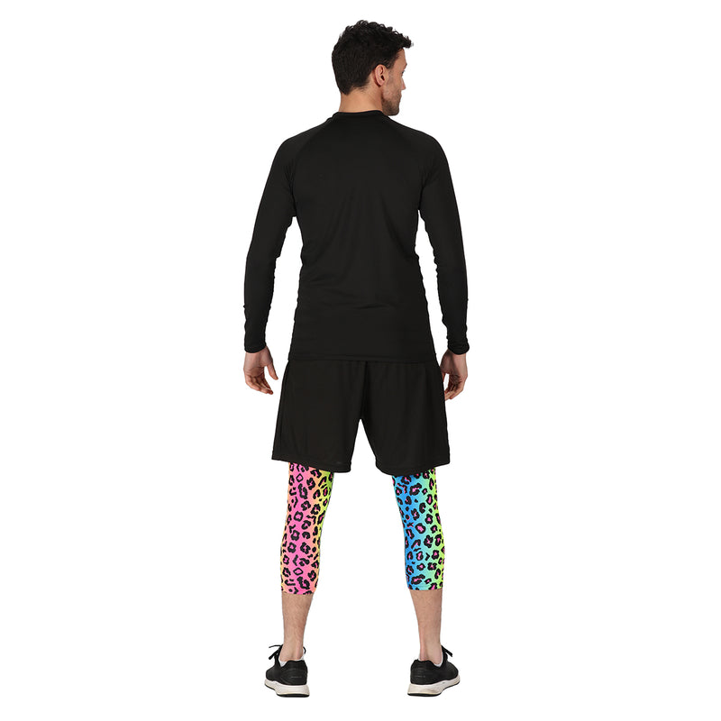 Tikiboo Neon Leopard 3/4 Length Pants - Back Male Model View