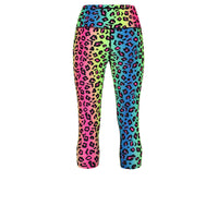 Tikiboo Neon Leopard Cropped Tights - Back Product View