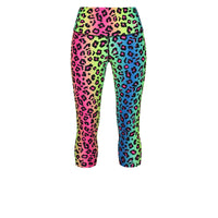 Tikiboo Neon Leopard Capri - Front Product View