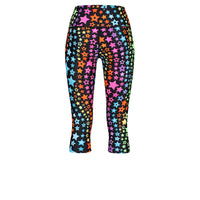 Tikiboo Neon Stars Cropped Tights - Back Product View