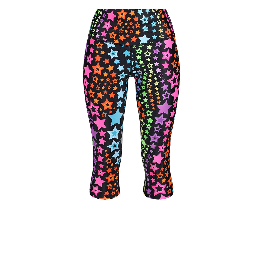 Tikiboo Neon Stars Capri - Front Product View