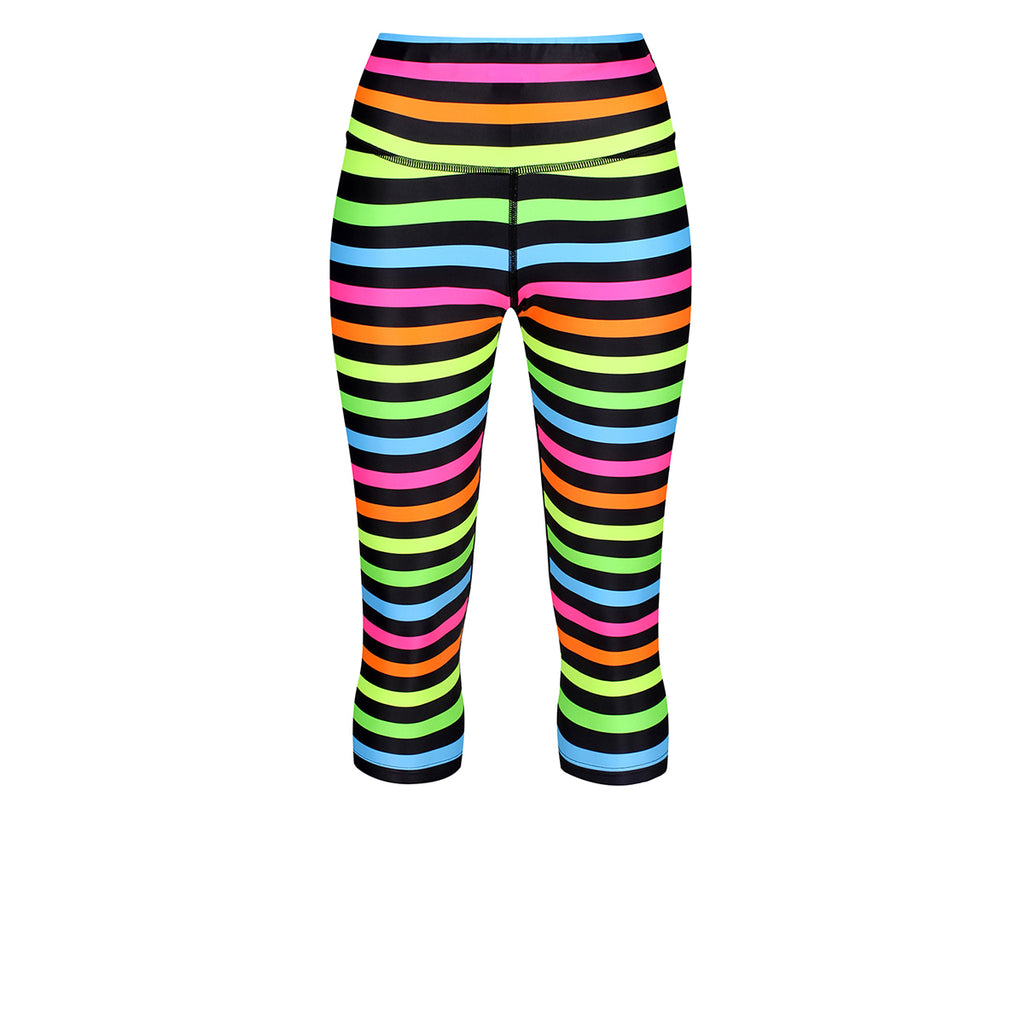 Neon Stripes Capri