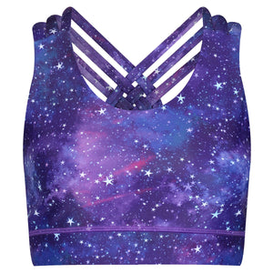 Tikiboo Galactic Night Cross Back Bra - Front Product View