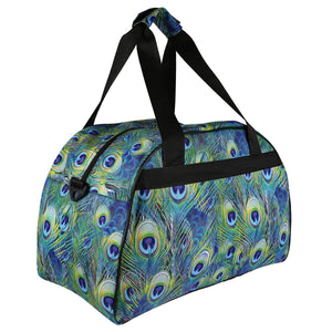 Tikiboo Peacock Feathers Sports Bag - Back Product View