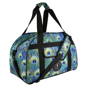 Tikiboo Peacock Feathers Gym Bag - Front Product View
