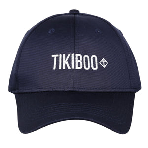 Tikiboo Navy Logo Cap - Front Product View