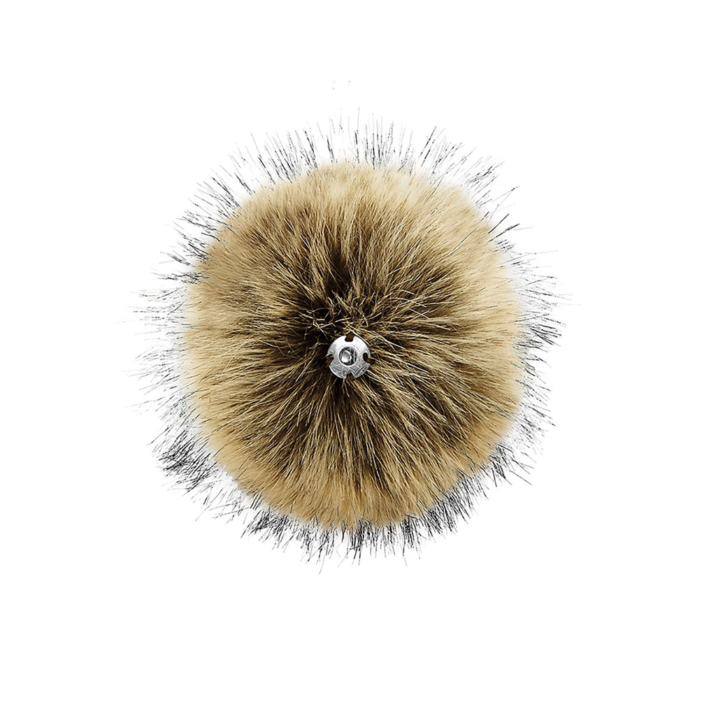 Hazel Faux Fur Pom Pom Key Chain Dangle - Back Product View