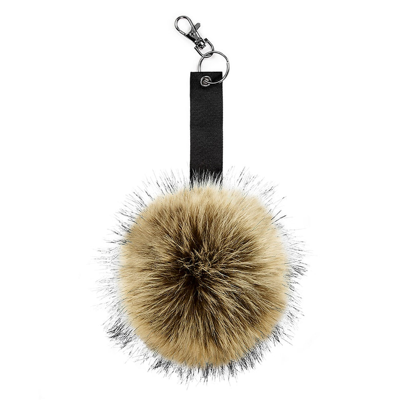 Hazel Faux Fur Pom Pom Keyring - Front Product View