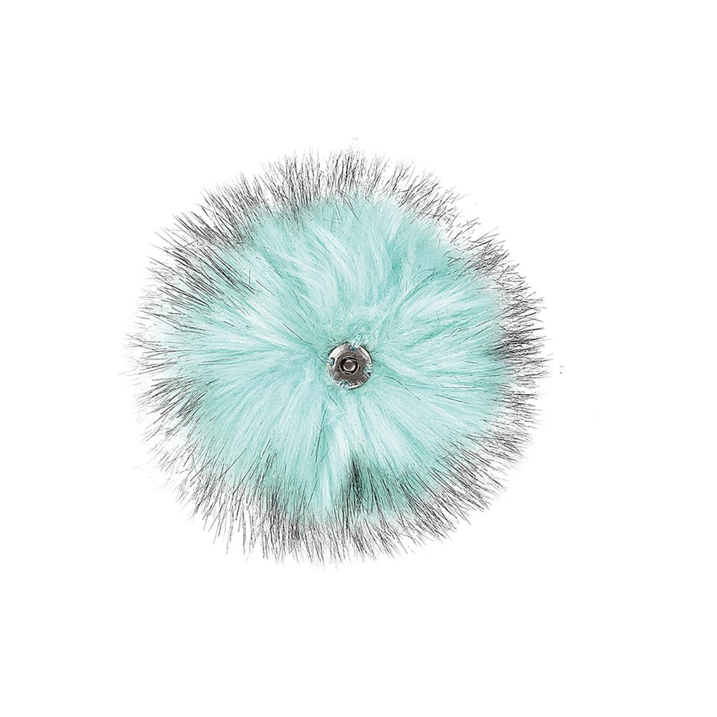 Tikiboo Mint Faux Fur Pom Pom Key Chain Dangle - Back Product View