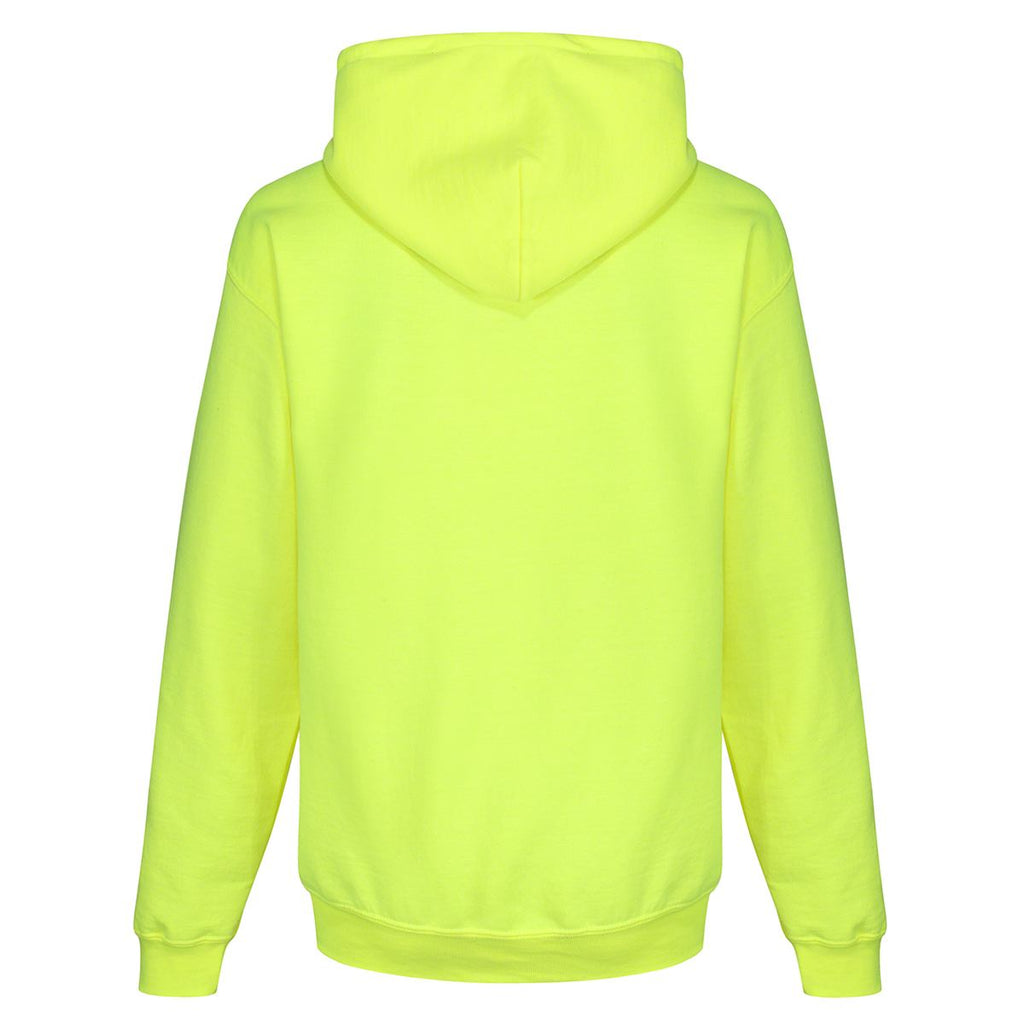 Tikiboo Mr Motivator 'Squad' Neon Lime Hooded Sweatshirt - Back Product View