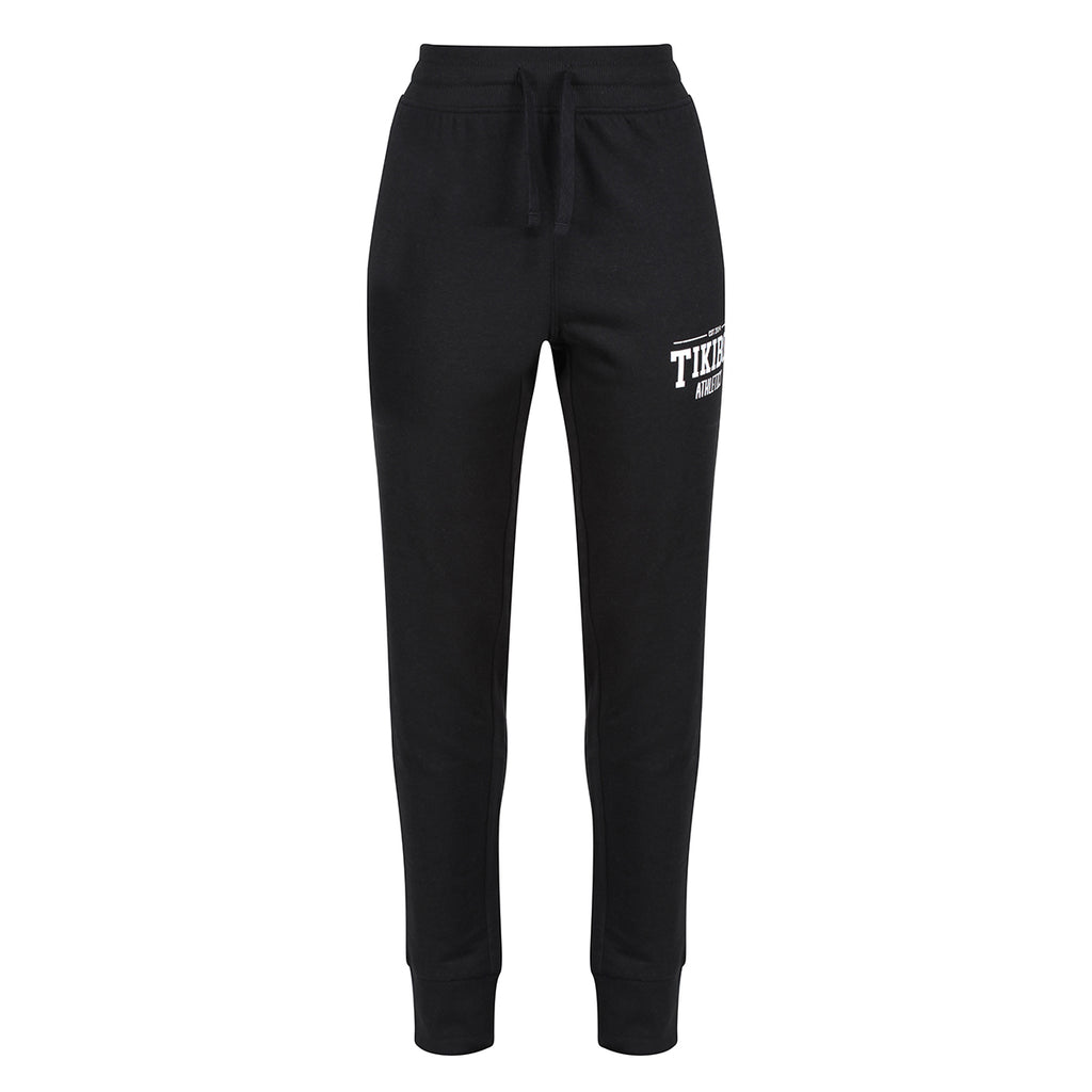 Tikiboo Black Athletics Joggers - Front Product View