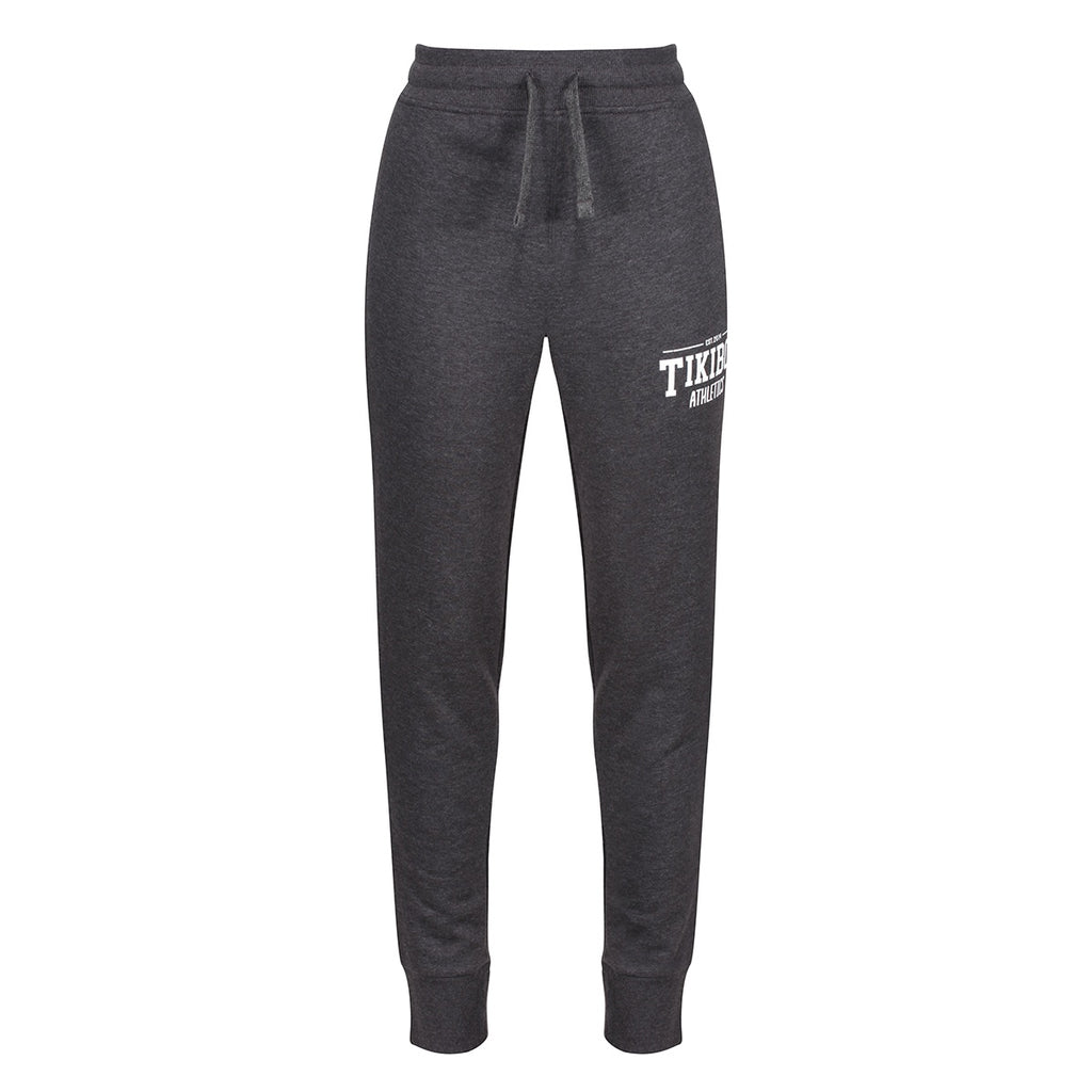 Tikiboo Charcoal Marl Athletics Joggers - Front Product View