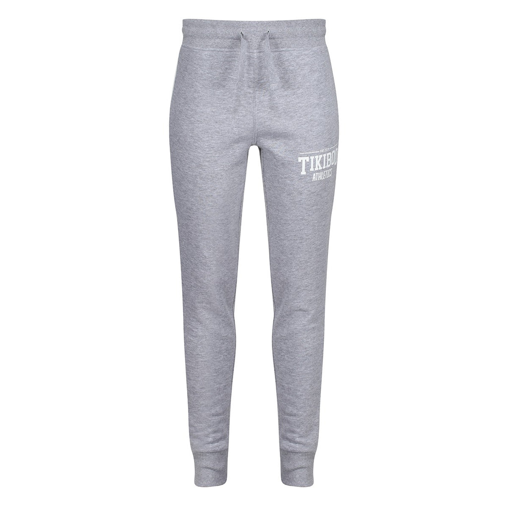 Tikiboo Grey Marl Athletics Joggers - Front Product View