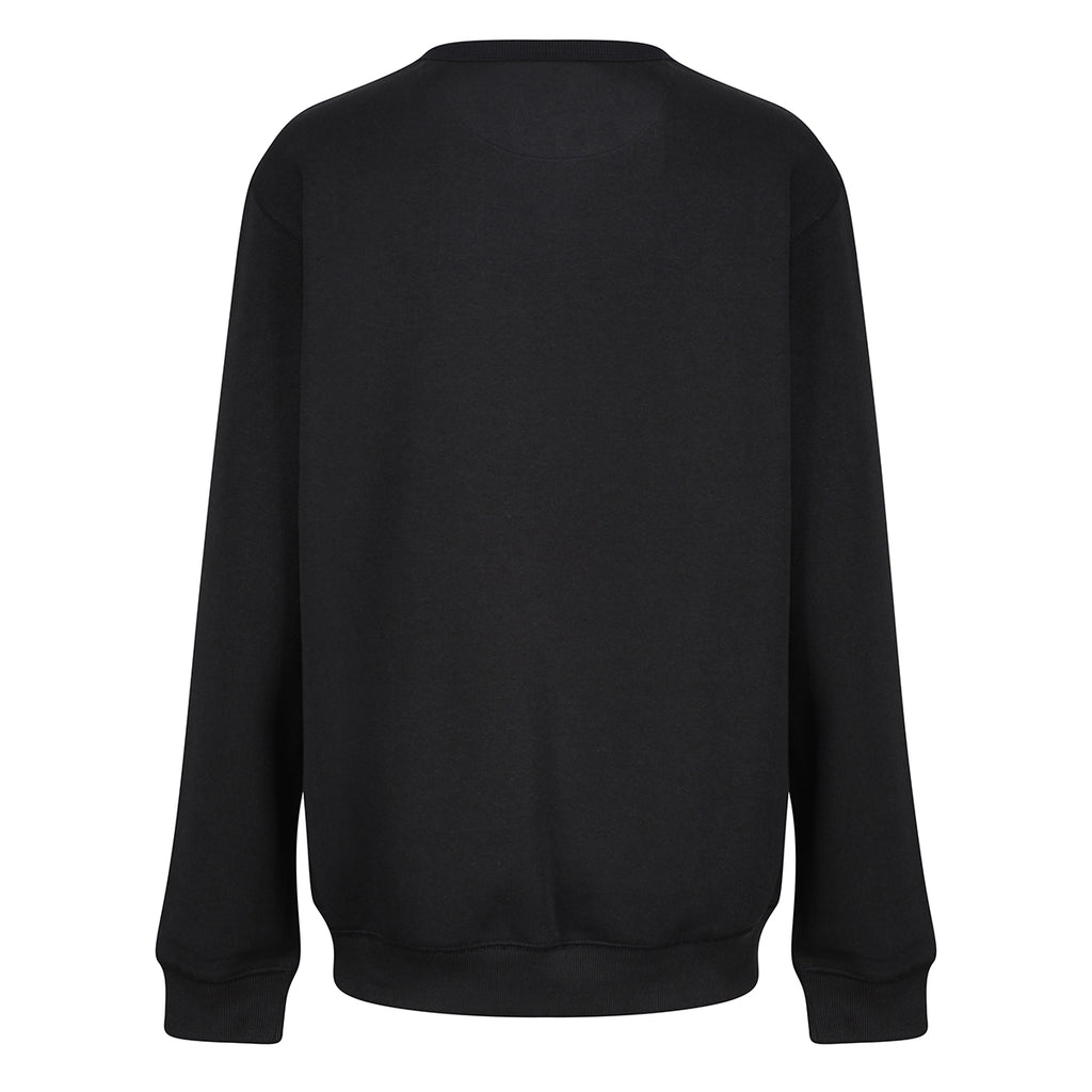 Tikiboo Black Athletics Sweatshirt Top - Back Product View