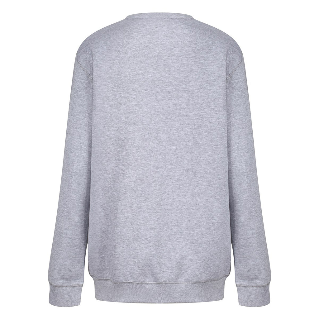 Tikiboo Grey Marl Athletics Sweatshirt Top - Back Product View