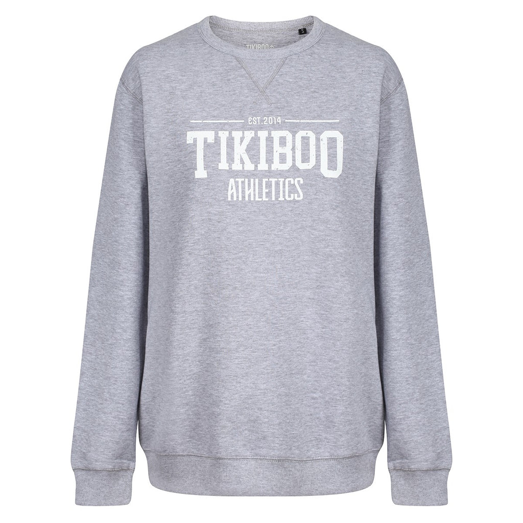 Tikiboo Grey Marl Athletics Sweatshirt - Front Product View