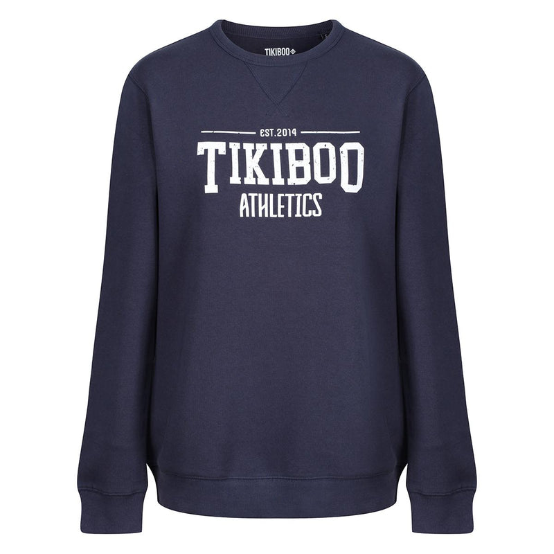Tikiboo Navy Athletics Sweatshirt - Front Product View