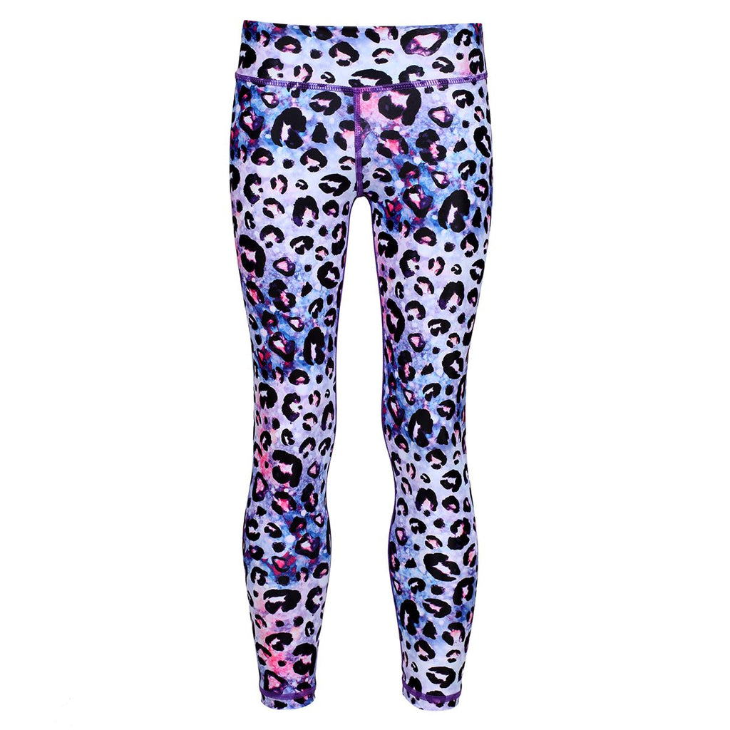 Tikiboo Bluebell Ocelot Kids Leggings - Front Product View