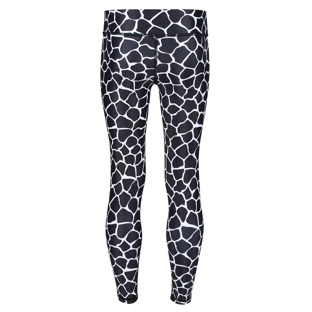 Monochrome Giraffe Kids Leggings