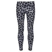 Tikiboo Monochrome Giraffe Kids Leggings - Front Product View