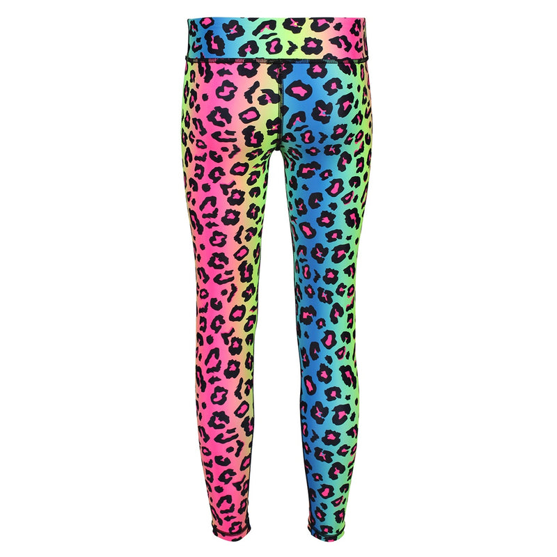 Tikiboo Neon Leopard Child Tights - Back Product View
