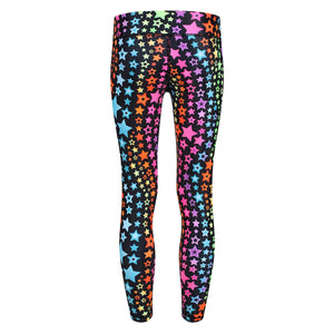 Tikiboo Neon Stars Child Tights - Back Product View