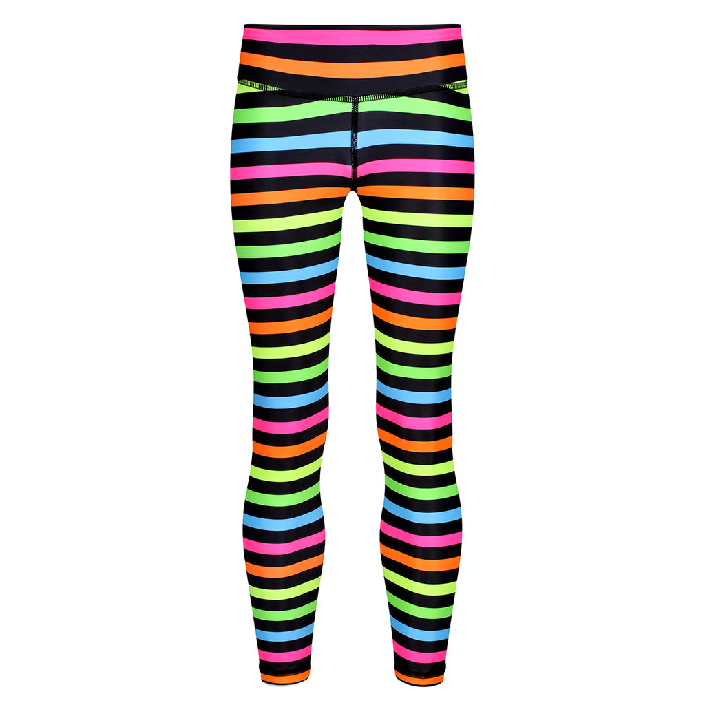 Neon Stripes Kids Leggings