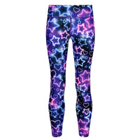 Tikiboo Ultraviolet Kids Leggings - Front Product View