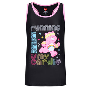 Tikiboo Care Bears 'Running Late Is My Cardio' Kids Vest - Front Product View