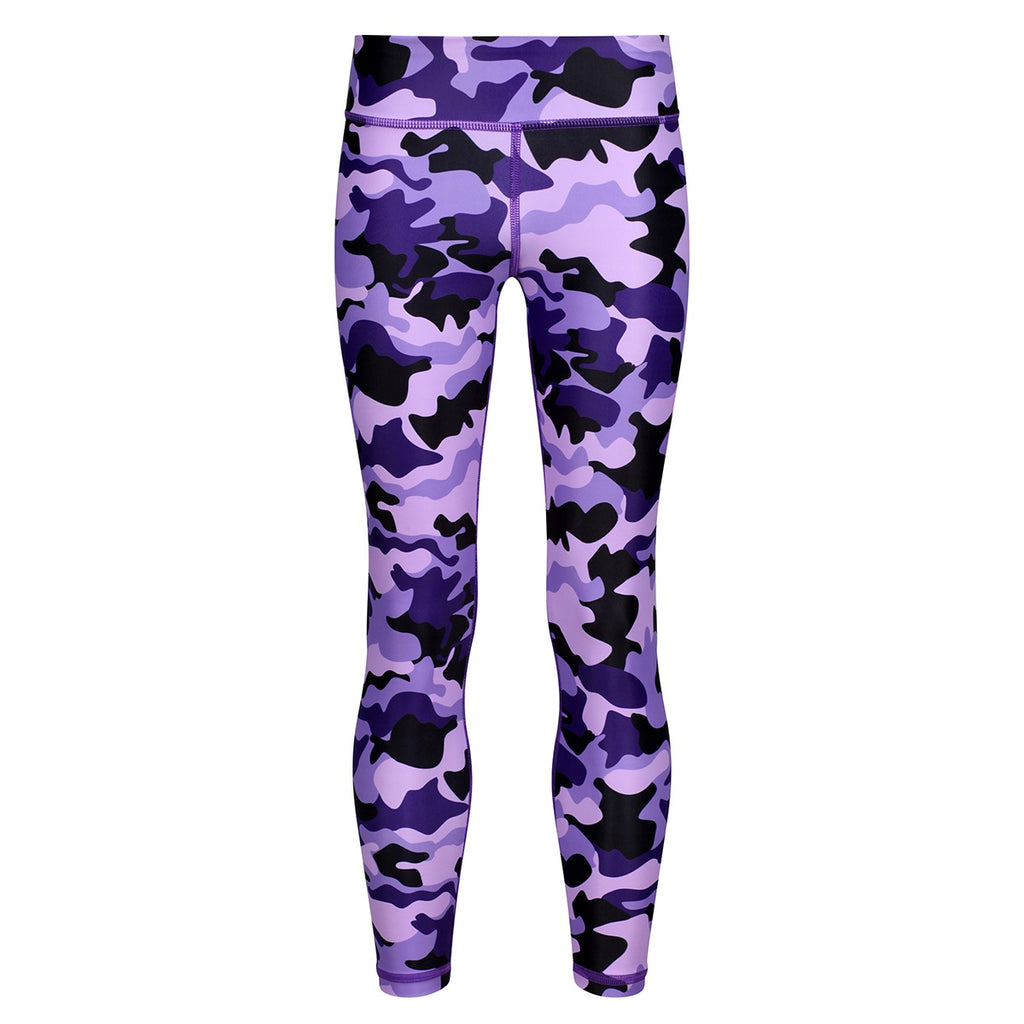 Tikiboo Blackberry Camo Kids Leggings - Front Product View