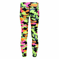 Tikiboo Fruit Salad Camo Child Tights - Back Product View