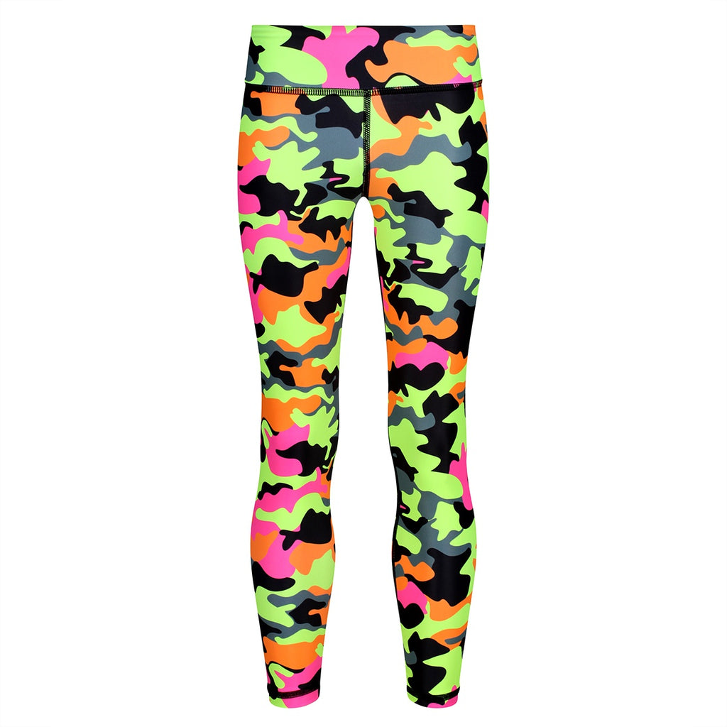 Tikiboo Fruit Salad Camo Kids Leggings - Front Product View