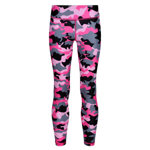 Tikiboo Strawberry Sundae Camo Kids Leggings - Front Product View
