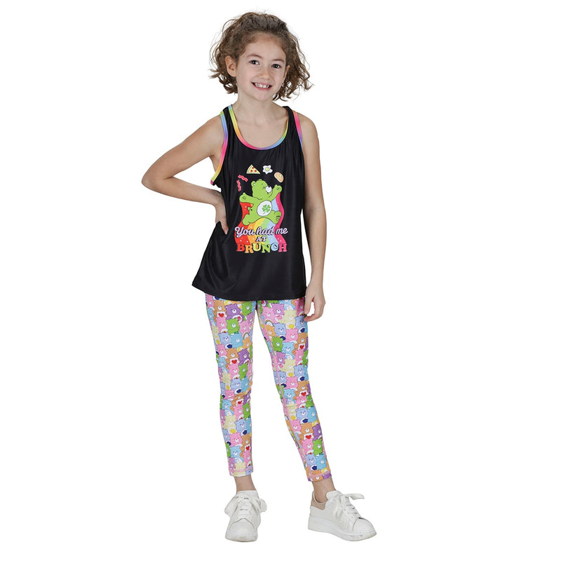 Tikiboo Care Bears 'You Had Me At Brunch' Kids Tank - Front Model View