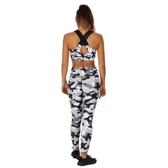 Tikiboo Monochrome Camo Tight Pants - Back Model View