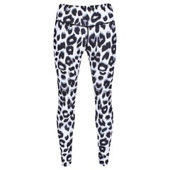 Tikiboo Snow Leopard Leggings - Front Product View