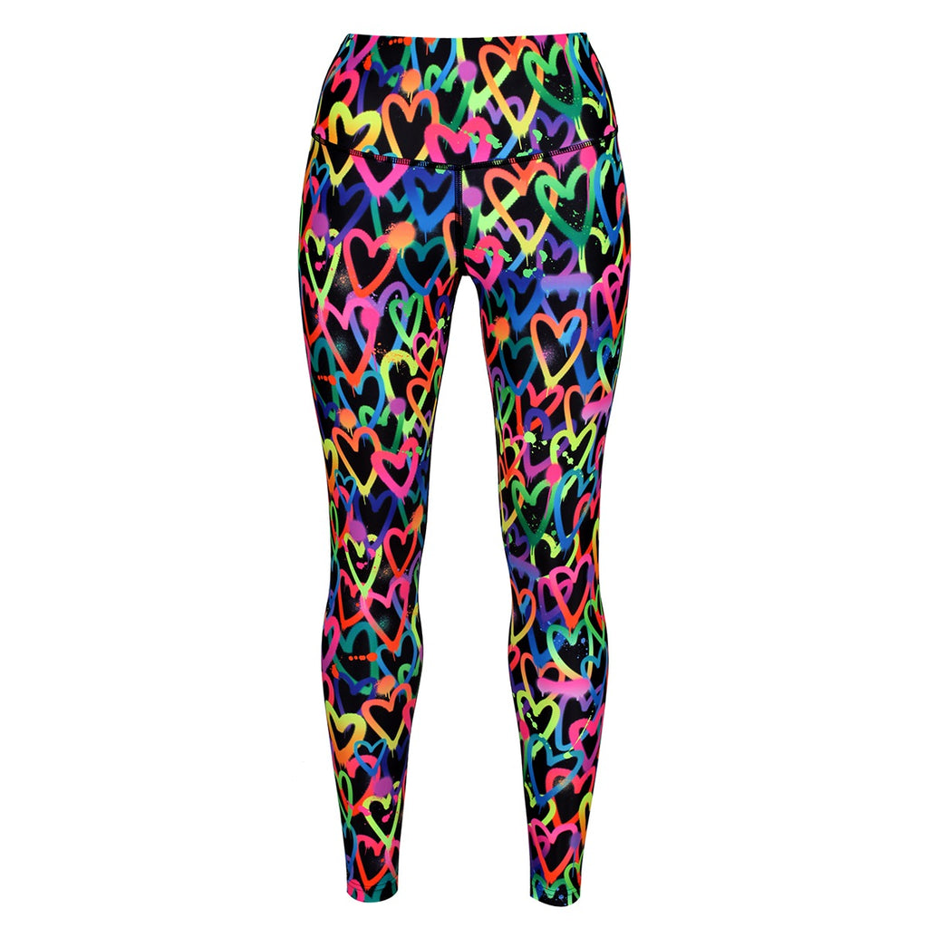 Tikiboo Art Attack Leggings - Front Product View