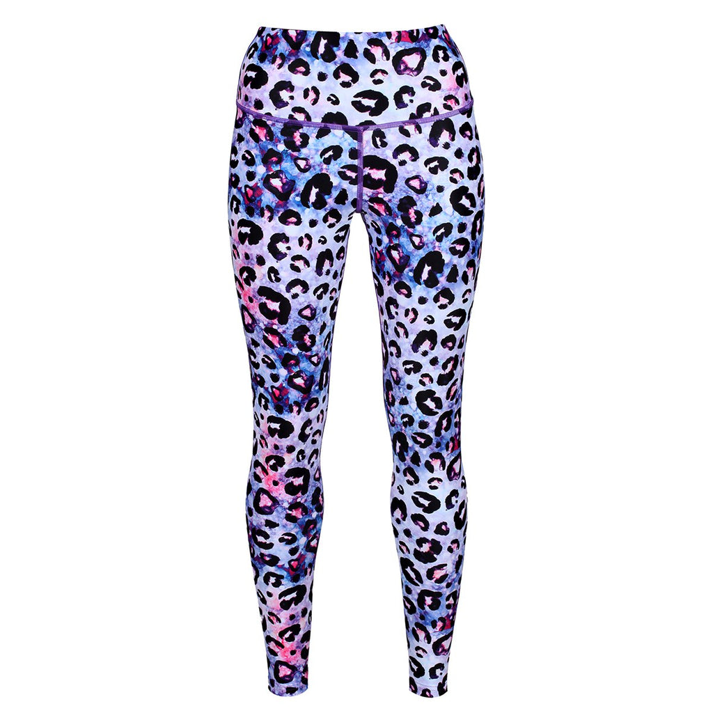 Tikiboo Bluebell Ocelot Leggings - Front Product View